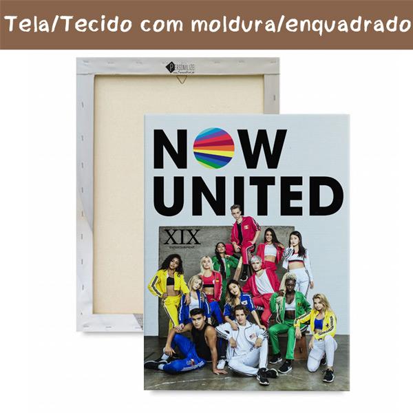 Quadro/Tela Now United Grupo com moldura