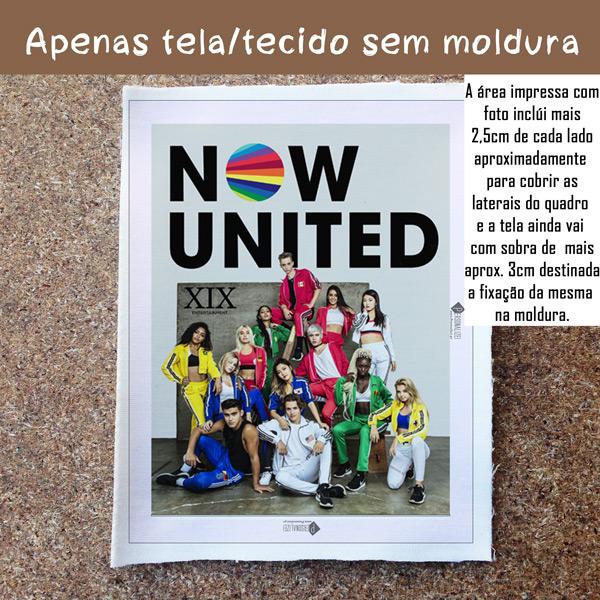 Quadro/Tela Now United Grupo comprar em portugal sem moldura