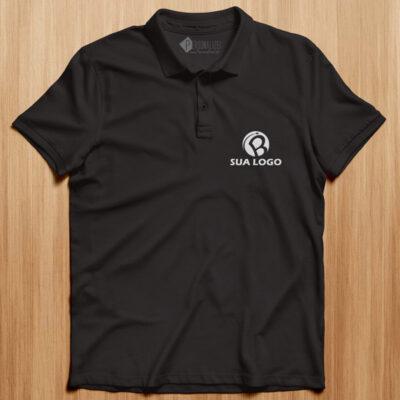 Polo personalizado com logo bordado ou vinil flex barato