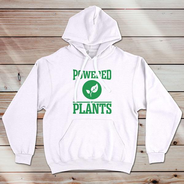 Sweatshirt com capuz Powered By Plants branco