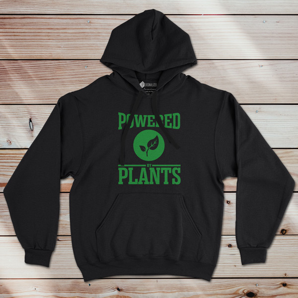Sweatshirt com capuz Powered By Plants preto