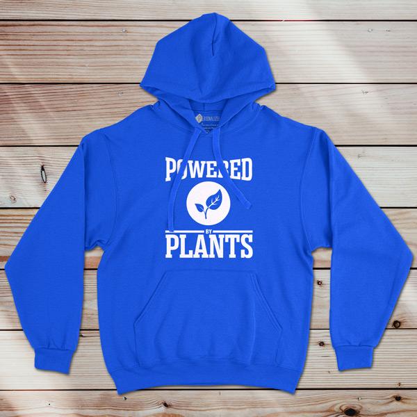 Sweatshirt com capuz Powered By Plants azul