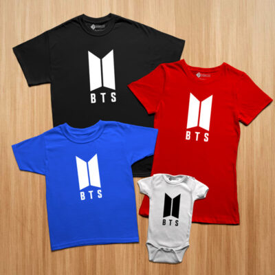 T-shirt BTS camisetas coreanas familia