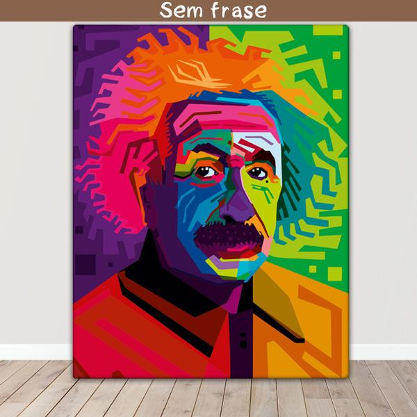 Albert Einstein Quadro/Tela personalizado vetorizado