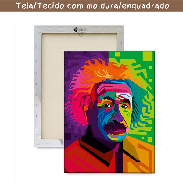 Albert Einstein Quadro/Tela personalizado emoldurado