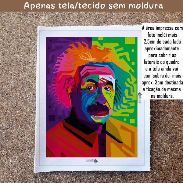 Albert Einstein Quadro/Tela personalizado sem moldura