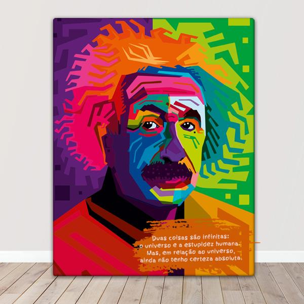 Albert Einstein Quadro/Tela personalizado para presente