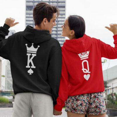 Sweatshirt com capuz King e Queen conjunto namorados comprar