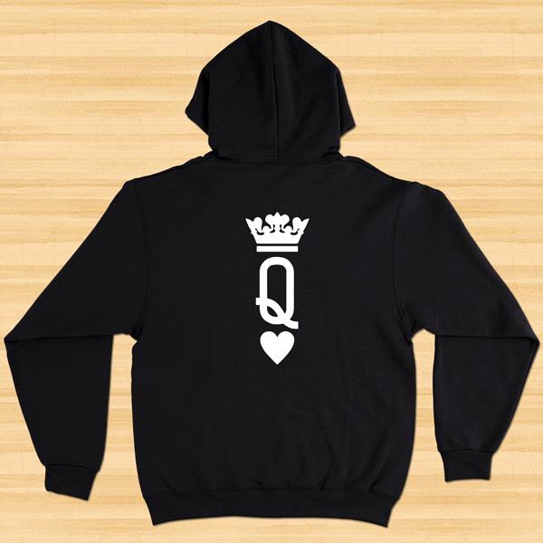 Sweatshirt com capuz King e Queen conjunto namorados preço