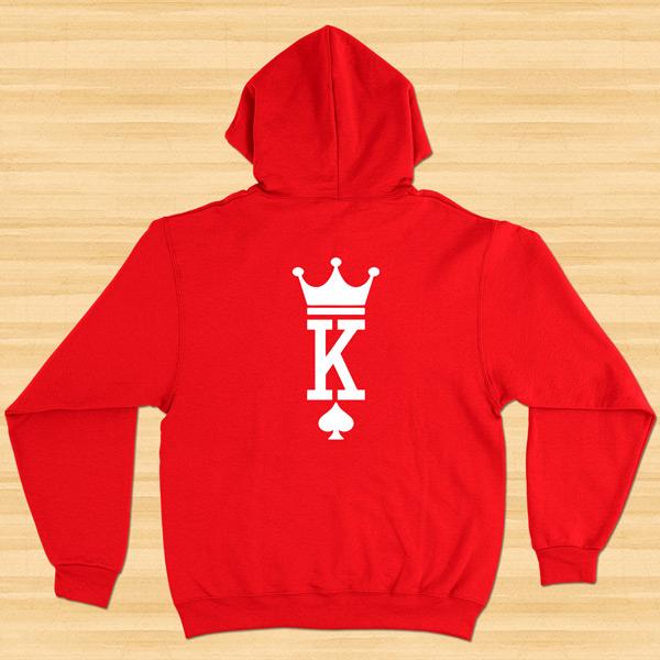Sweatshirt com capuz King e Queen conjunto namorados preto