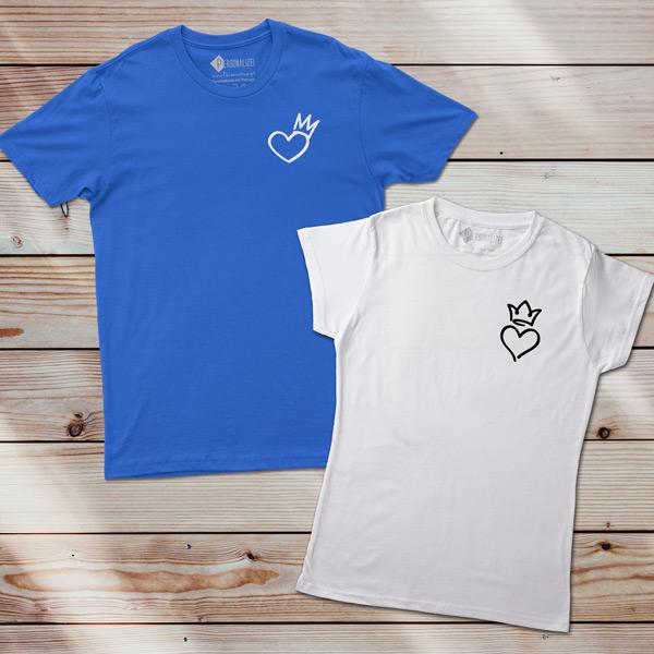 T-shirt Coração Rei e Rainha comprar em Portugal