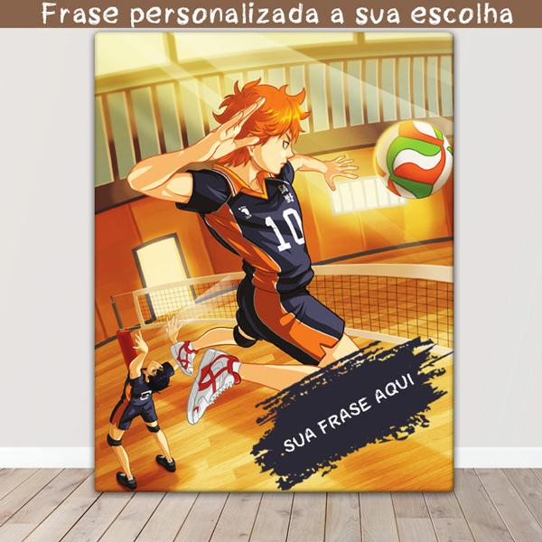 Haikyuu Quadro/Tela Shoyo Hinata e Tobio Kageyama frase personalizada