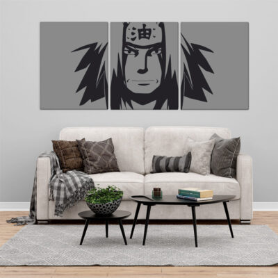 Jiraiya Naruto Quadro/Tela panorâmico em partes