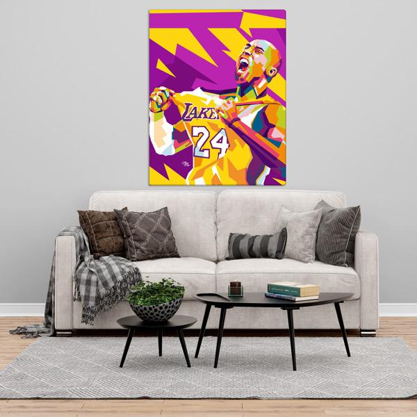 Kobe Bryant Quadro/Tela personalizado na parede