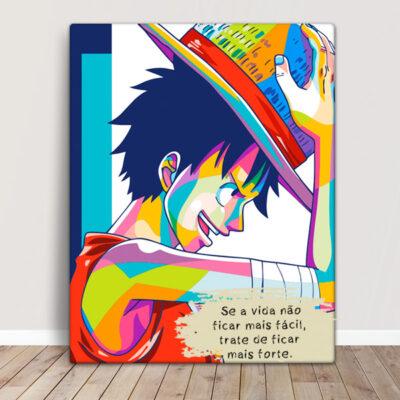Monkey D. Luffy Quadro/Tela One Piece Personalizado preço