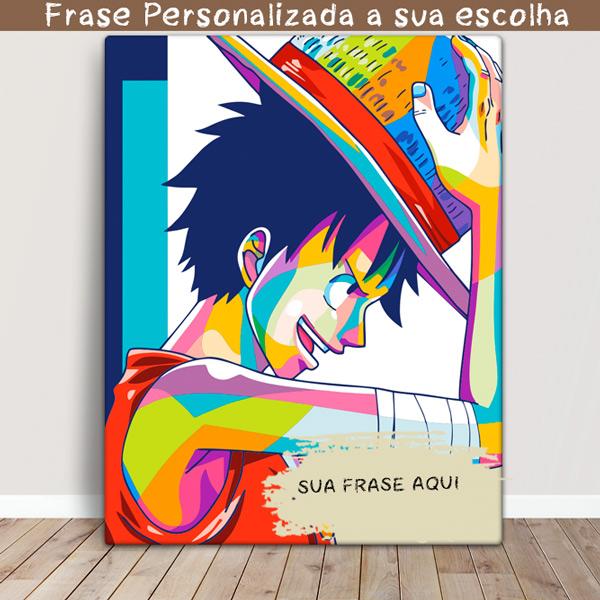 Monkey D. Luffy Quadro/Tela One Piece Personalizado Comprar em portugal