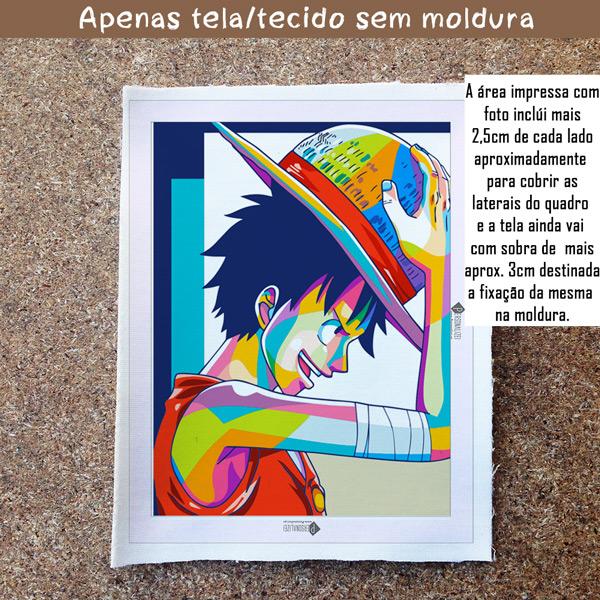 Monkey D. Luffy Quadro/Tela One Piece Personalizado