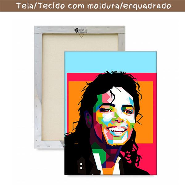 Michael Jackson Quadro/Tela personalizado com moldura