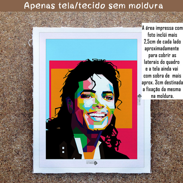 Michael Jackson Quadro/Tela personalizado sem moldura
