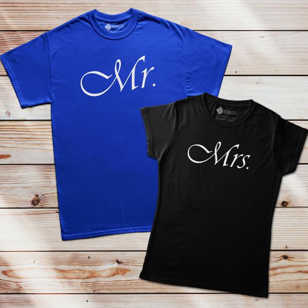 Mr. e Mrs. T-shirt casais em Portugal