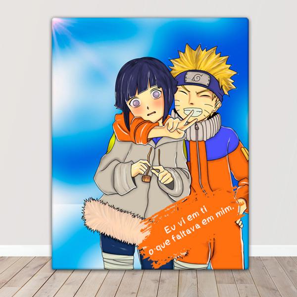 Naruto Quadro/Tela Naruto e Hinata juntos comprar em portugal