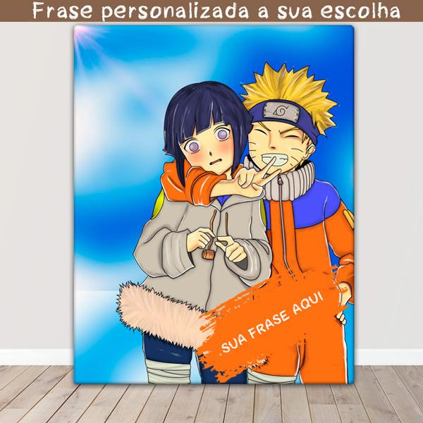 Naruto Quadro/Tela Naruto e Hinata juntos namorados