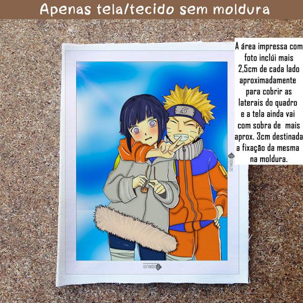 Naruto Quadro/Tela Naruto e Hinata juntos sem moldura