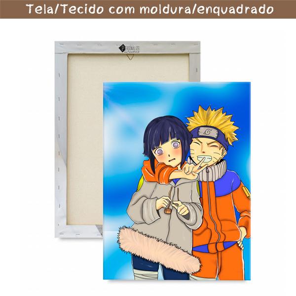 Naruto Quadro/Tela Naruto e Hinata juntos com moldura