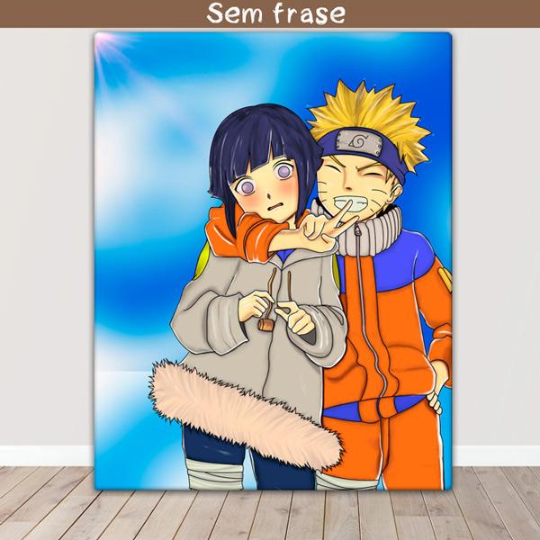 Naruto Quadro/Tela Naruto e Hinata juntos preço