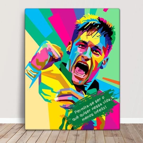 Neymar Jr Quadro/Tela personalizado colorido