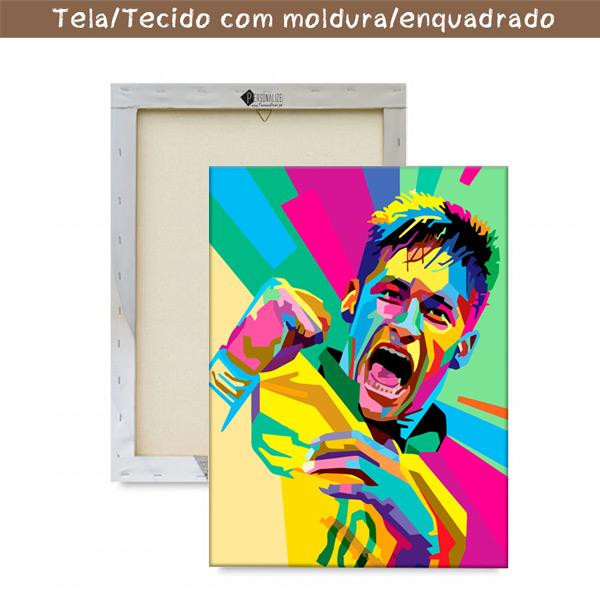 Neymar Jr Quadro/Tela com moldura
