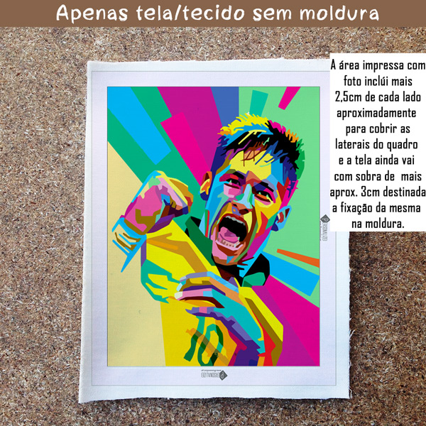 Neymar Jr Quadro/Tela personalizado sem moldura