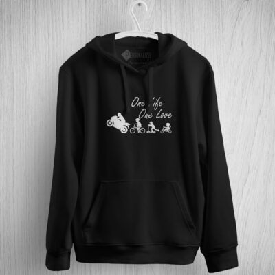 One Life One Love Moto Motocycle Sweatshirt com capuz comprar em Portugal