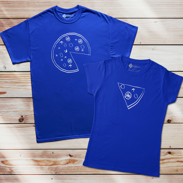 T-shirts Pizza Lovers azul