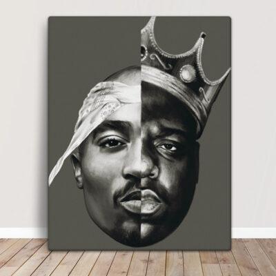 Tupac Shakur e Notorious B.I.G. Quadro/Tela