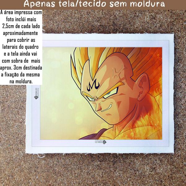 Vegeta Quadro/Tela Dragon Ball Z Personalizado sem moldura