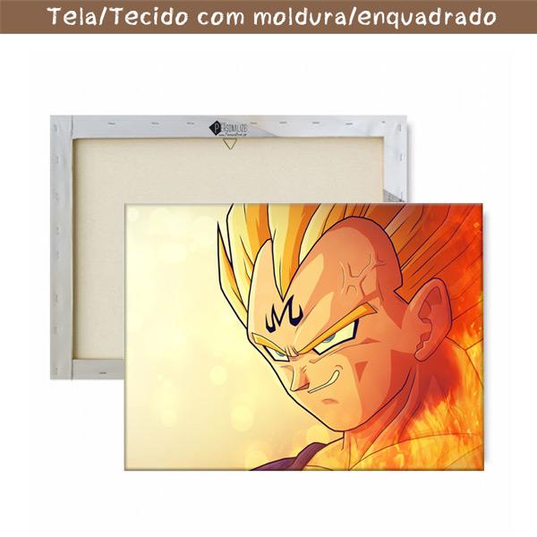 Vegeta Quadro/Tela Dragon Ball Z Personalizado