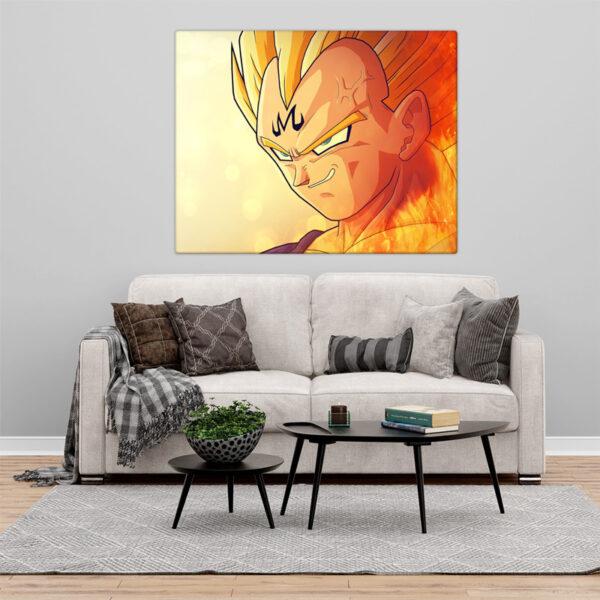 Vegeta Quadro/Tela Dragon Ball Z Personalizado na parede