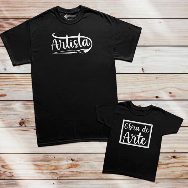 T-shirt Artista e Obra de Arte Pai filho(a) Mãe e filho(a) preço