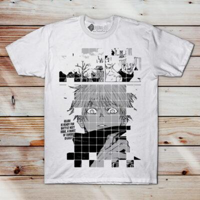 Satoru Gojo T-shirt Jujutsu Kaisen homem e mulher comprar em Portugal
