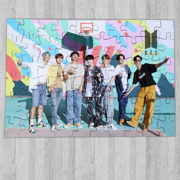 Puzzle BTS Bangtan Boys de madeira ou cartão grupo bts fãs