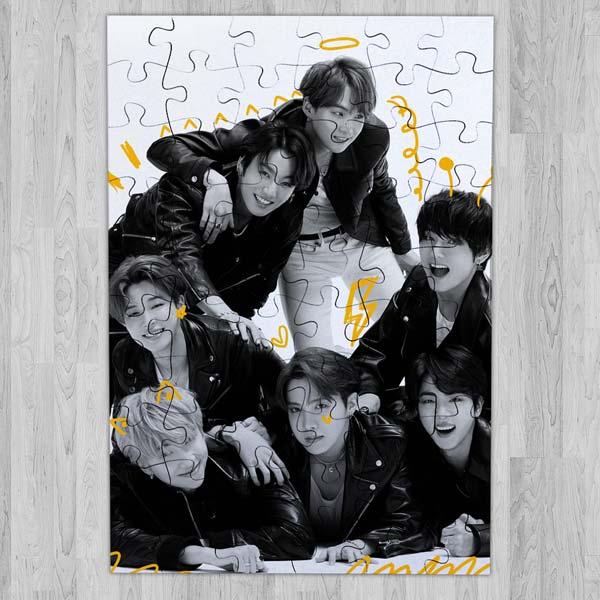 Puzzle BTS Bangtan Boys de madeira ou cartão puzzles baratos