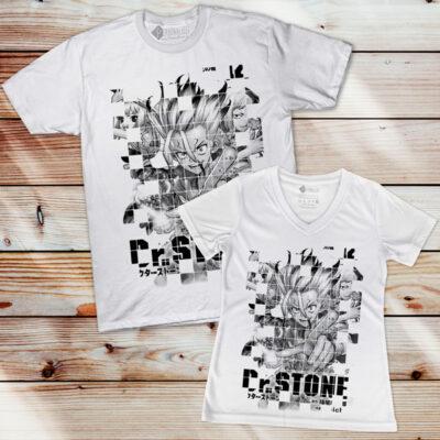 T-shirt Dr. Stone em preto e branco comprar em Portugal