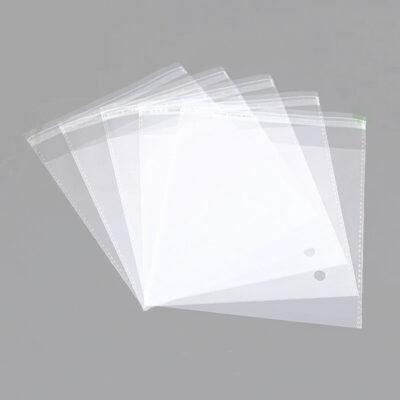 Sacos para embalar transparente com adesivo e furo preço