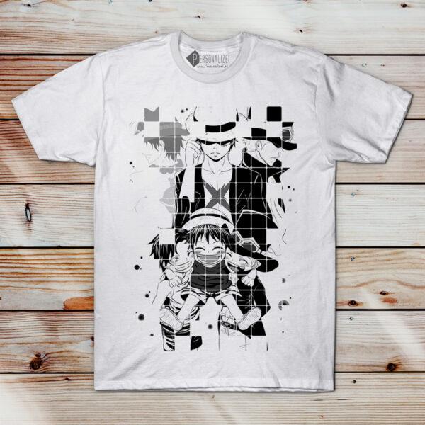 Luffy Sabo e Ace T-shirt One Piece comprar