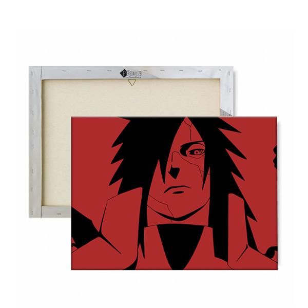 Madara Uchiha Quadro/Tela Naruto panorâmico em partes com moldura