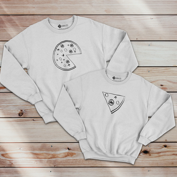 Pizza Lovers Sweatshirt unisex branco