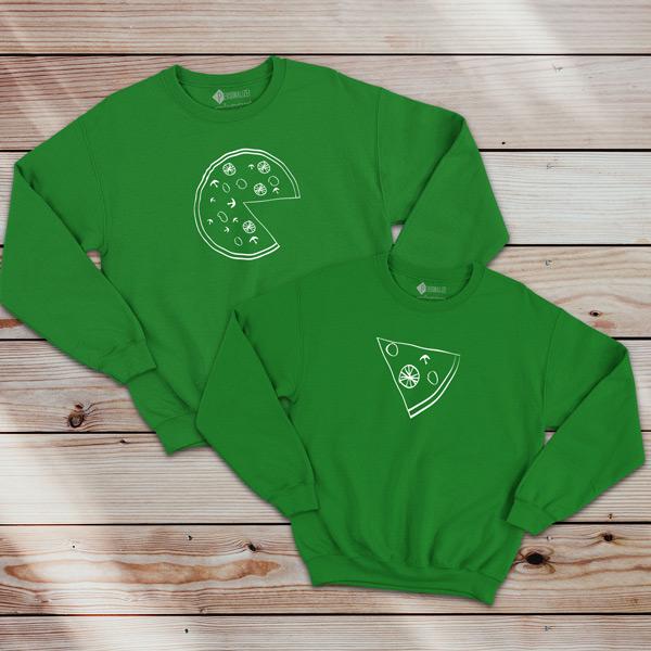 Pizza Lovers Sweatshirt unisex verde