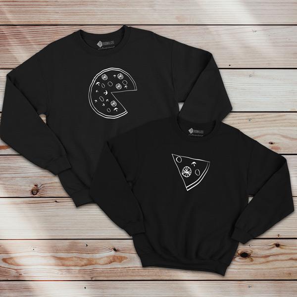 Pizza Lovers Sweatshirt unisex preto