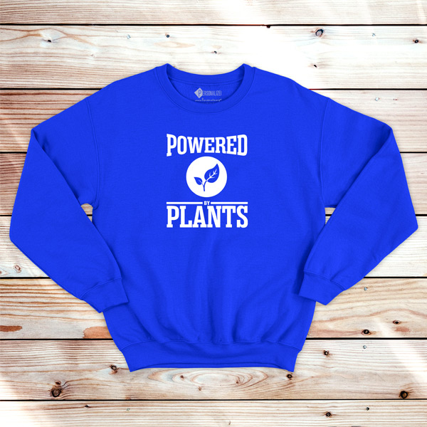 Powered By Plants Sweatshirt unisex azul